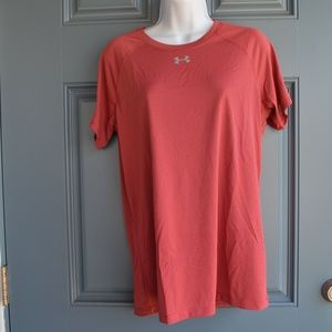 Red/Grey Micro-stripe Locker Tee by Under Armour